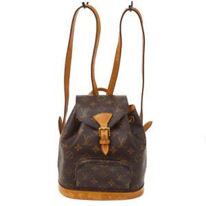 LOUIS VUITTON MINI MONTSOURIS BACKPACK HAND BAG MONOGRAM M51137 SP0927 90240