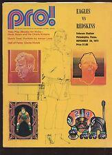 November 28 1971 NFL Program Washington Redskins at Philadelphia Eagles EX+