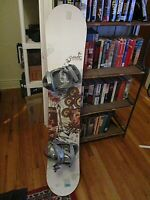 snowboard 149cm O-MATIC Benatar Womens snowboard w Ride EX (womens) Bindings