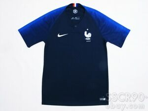 NIKE France 2018 Home Football Shirt Soccer Jersey Obsidian 893872-451 1-Star