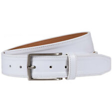 NIKE GOLF MEN'S G-FLEX NEW TRAPUNTO LEATHER BELT SIZE W34 (FITS 32) WHITE 19185