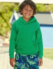 Sudaderas de niño de 2 a 16 años de color principal verde de poliéster