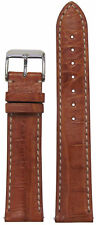 20mm Hadley Roma MS2012 Tan Genuine Caiman Crocodile Watch Band 120/80