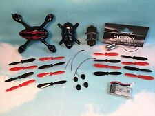 Hubsan H107C Red/Black Quadcopter Spare Parts Kit Motors-Body-Battery-Blades-LED