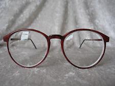 70s-80s Vintage Womens Red Big Eyeglasses Frame Prescription Lenses Smart Carbon