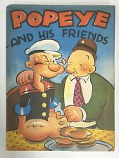 POPEYE AND HIS FRIENDS BOOK 1937 WHITMAN NO. 2114 DUST JACKET
