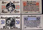 RARE WW1 GERMAN KRIEGSGELD (WAR MONEY) SET w 16TH CENT SOLDIERS/IRON CROSS! MINT