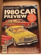 """Consumer Guide Magazine SEPTEMBER 1979 """"1980 CAR PREVIEW"""""""