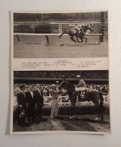 VTG Horse Racing Winner's Circle Photograph 1960 Advancer Memorabilia