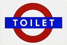 """""""TOILET"""" London Underground enamelled steel fridge magnet   (gg)"""
