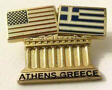 Pin Spilla Olimpiadi Athens 2004 Greece/USA Flags