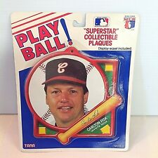 Vintage 1980's PLAY BALL Superstar Collectible Plaque White Sox Carlton Fisk MLB