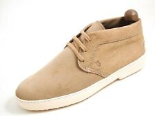 Tod's Chukka Ankle Boots Beige Suede Mens Size US 12 EU 45