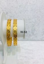Indian Bollywood Gold Plated Colour Ginni Coin Bangles Size 2.4 Fashion Kada New