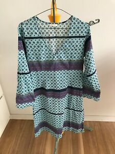 LOLA AUSTRALIA Cotton Dress Tunic Kaftan Beach Coverup Boho    Size 10
