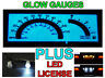 Glow Gauge Face + LED License Bulbs For 1982-1993 Chevy S10 S-10 & Blazer 110MPH