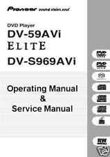 PIONEER  DV-59AVI DVD PLAYER OWNERS & SERVICE MANUAL CD