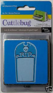 RIP Headstone   Halloween,Cut and Emboss Combo Cuttlebug Provo Craft  NIP