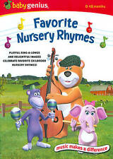 Baby Genius - Favorite Nursery Rhymes (DVD, 2010), 0-48 Months, Sing-a-Long