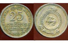 CEYLAN  25 cents 1971