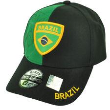 Brazil  Flag Colors Country Black Green Adjustable Hat Cap Brasil Brazilian