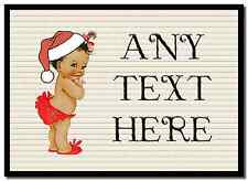 Vintage Xmas White Skin Girl Christmas Personalised Placemat