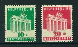 Germany 1948 B/A Zone Aid to Berlin full set of stamps. Mint. Sg A140-A141.