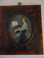 Antique Miniature Painting of Swedish Opera Singer Jenny Lind (circa 1845)