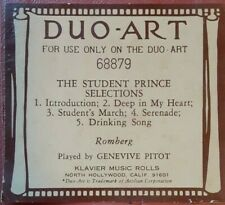 THE STUDENT PRINCE SELECTIONS BY ROMBERG DUO-ART RECUT REPRODUCING PIANO ROLL