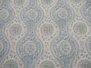 BRUNSCHWIG & FILS FABRIC 'NADARI PRINT - SKY/AQUA' 6.8 METRES 680cm Linen Blend