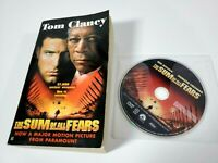The Sum of All Fears on DVD *DISC ONLY* w/ Paperback Book by Tom Clancy Lot
