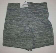 NEW Justice Girls Gray Athletic Bermuda Length Shorts 6 7 8 10 12 14 16 years