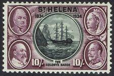 ST HELENA 1934 CENTENARY 10/-