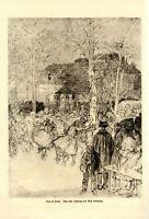 Tanz im Freien XL Kunstdruck 1919 Wilhelm Thielmann * in Herbon tanzen Dorffest