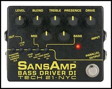Tech 21 SansAmp Bass Driver V2 DI Bass Guitar Effects Pedal