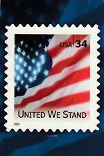 "*Postcard-""United We Stand"" /Picture of Big Stamp on Postcard/ (U2-320)"