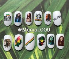 Bob Marley Nail Art (water decals) Jamaican Nail Art