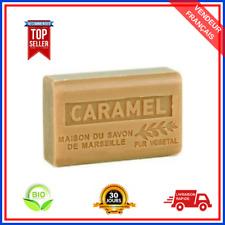 Savon De Marseille Caramel Au Beurre De Karité Pure Bio 100% Naturel De 125g