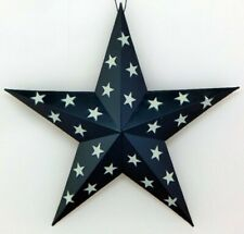SET OF FOUR RUSTIC LOOKING METAL BARN STARS BRAND NEW FREE SHIPPING