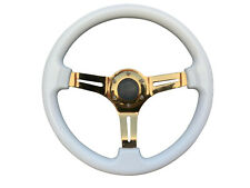 Pink Chrome TS Aftermarket sports steering wheel 350mm 6x70mm