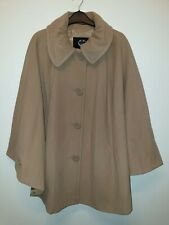 Gerry Weber 60% Wool 20% cashmere smart coat camel tan Colour Size 20 poncho