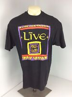 VTG 90s LIVE Mental Jewelry Album Black RARE Graphic T-Shirt Adult Size XL