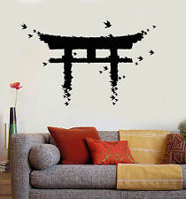 Vinyl Wall Decal Japan Gate Birds Japanese Art Asian Stickers (ig3880)