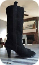 "Nine & Co. CLIO Boots 9.5M Black Suede 3.5"" Heel"