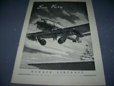 "1948 HAWKER SEA FURY ""SEA FURY""..1-PAGE SALES AD..(813X)"