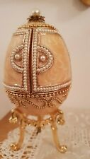 Faberge Russia style Extrordinary Only One Music Jewelry Goose egg 24k Gold Hmd