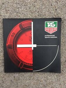 VINTAGE TAG HEUER 1987 SPORTS WATCH CATALOGUE & PRICE LIST