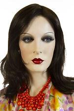 Minka 4 Brunette Medium Lace Front Light Weight Monofilament Jon Renau Wavy Wigs