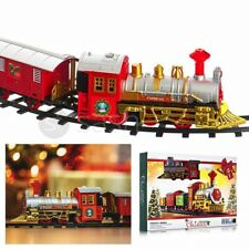 More details for 12pc christmas train set track deluxe musical sound light around tree decoration