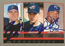 Jack Cust /  Mike Colangelo / Dee Brown 2000 Topps Autograph RC #202